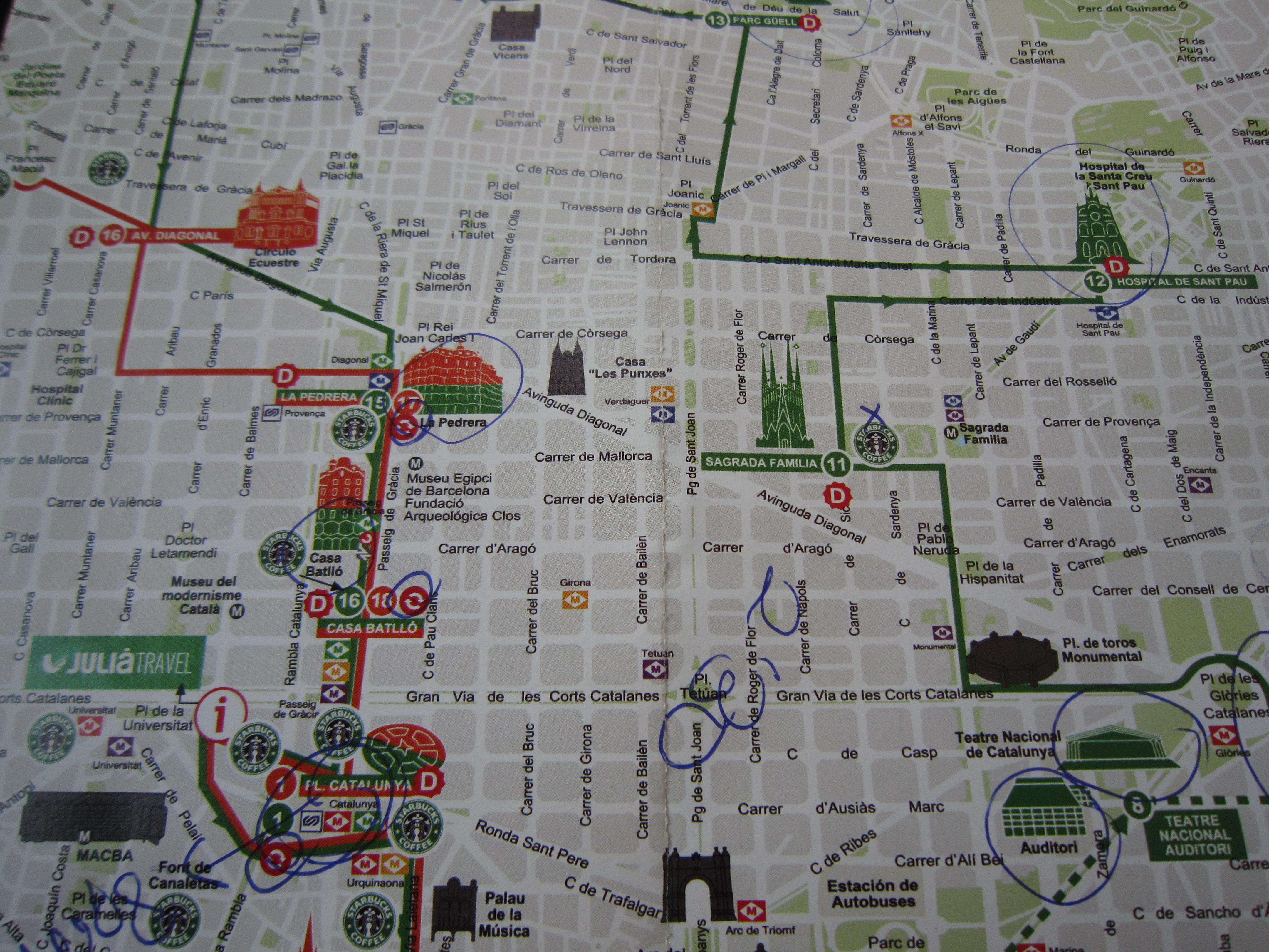 Бас туристик в барселоне схема маршрута
