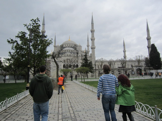 Walking towards the Blue Mosque