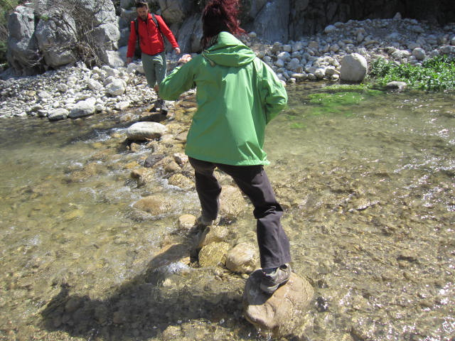 Crossing the stream to the otherside