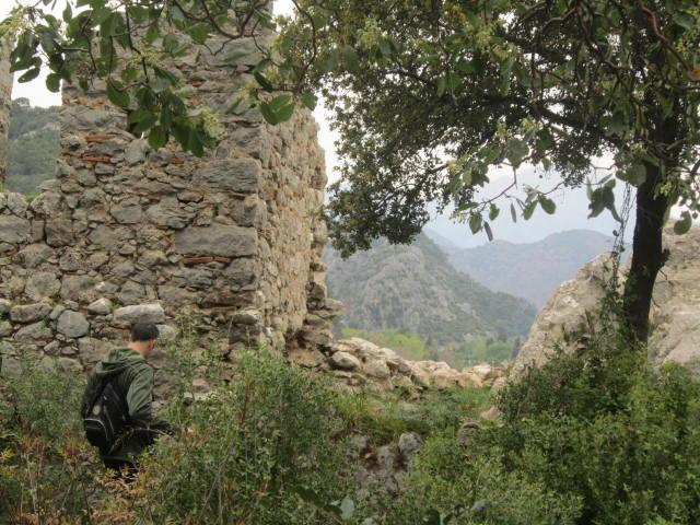 View through the ruins
