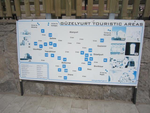 Güzelyurt Tourist Area Map