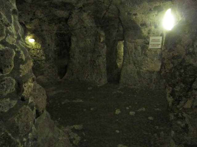 Main room, possible the kitchen in this underground city