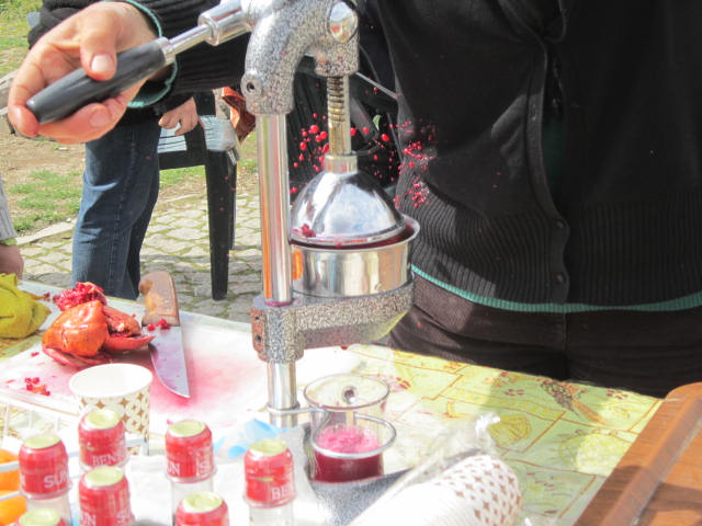 Juice press, nice action shot of the juice flying out