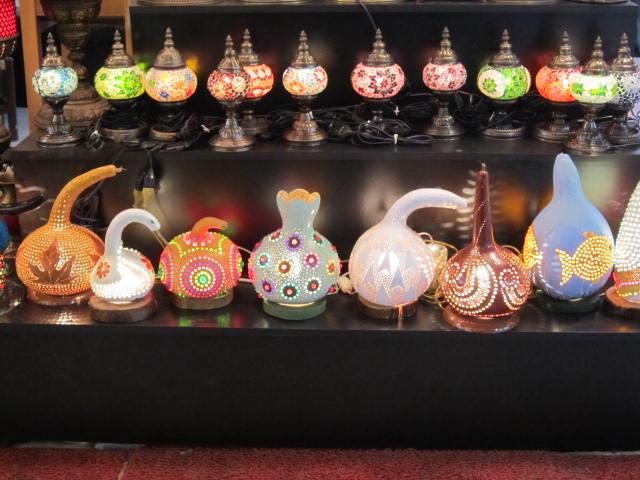 Artsy gourd lights in the Grand Bazaar