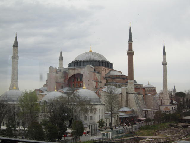 Aya Sophia from a roof top bar