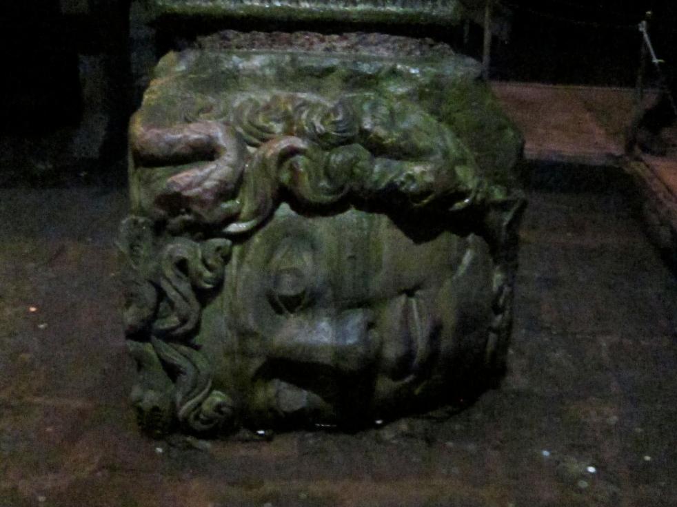 Medusa head sculpture
