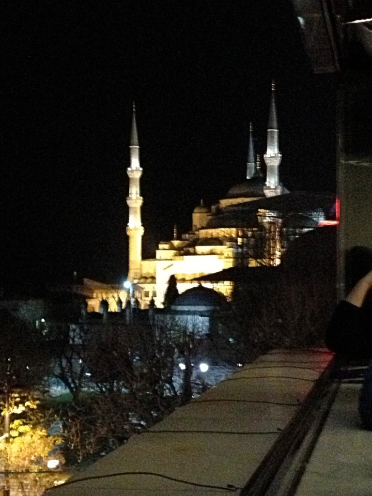 Night view of Aya Sophia