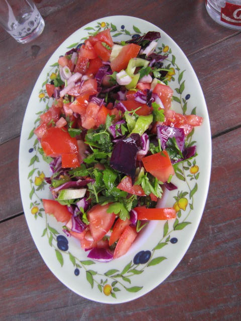Amazing salad, look at the colors