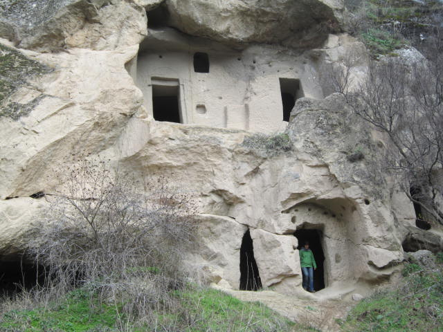 Two story cave dwelling