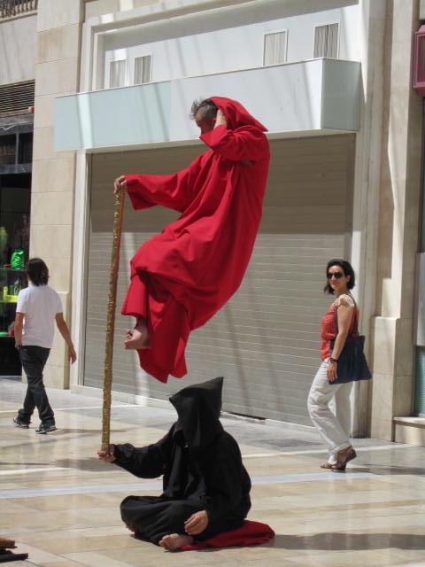 "Street ""magicians"" in Malaga"
