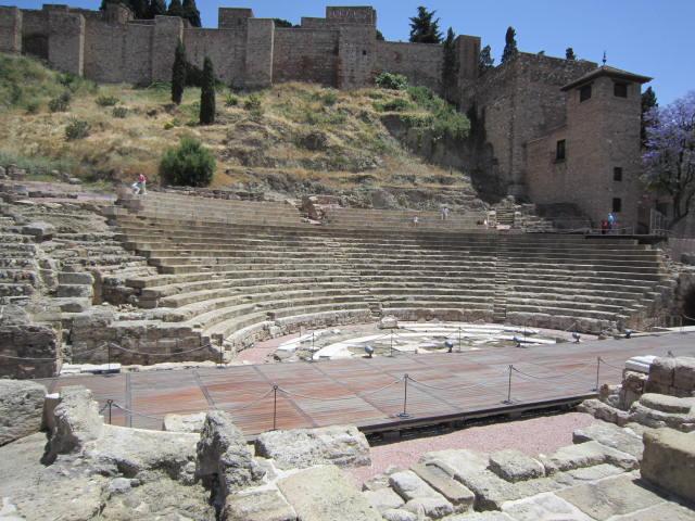 Roman Theatre outside of  Alcazaba