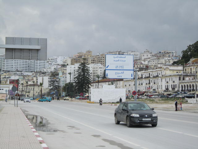Leaving the port in Tangier and heading along the coast to our hotel