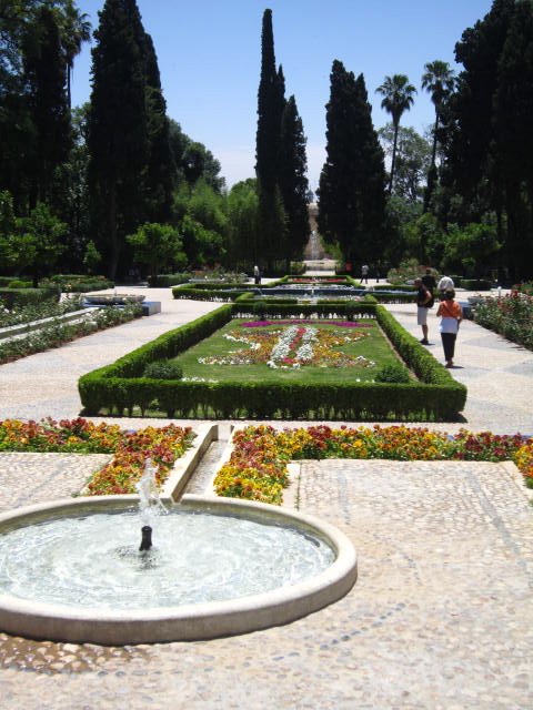 Beautiful gardens on the border of the old and new section of the Medina