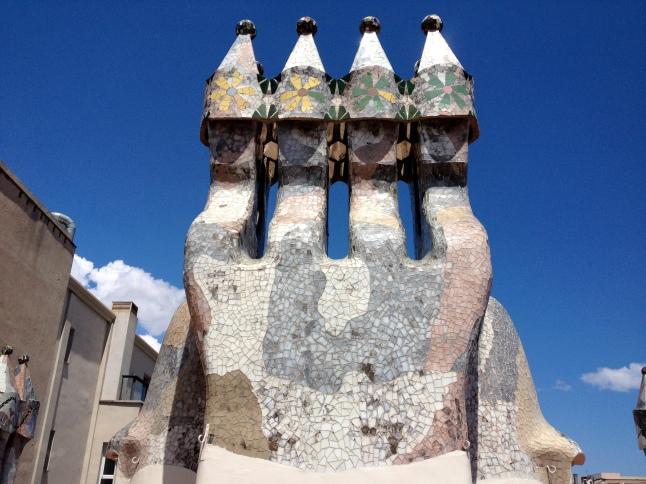 The roof at Casa Batlló