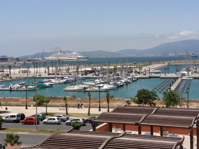 View of the port from our hotel room