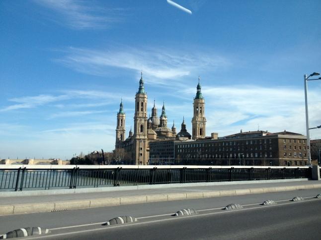 Driving into Zaragoza