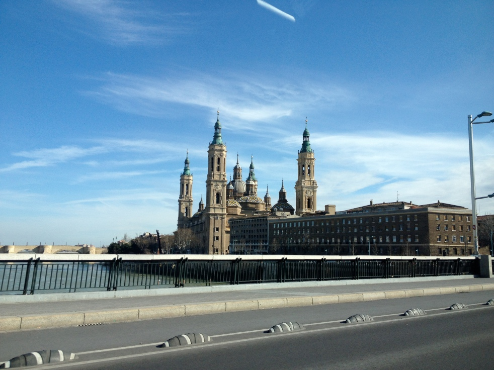 Driving into Zaragoza
