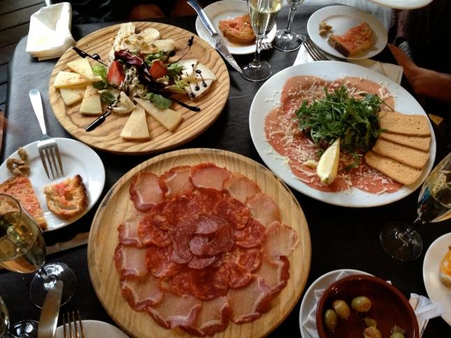 Our delicious tapas spread