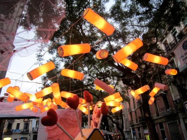 Plaça Vila de Gràcia or a Candy shop!