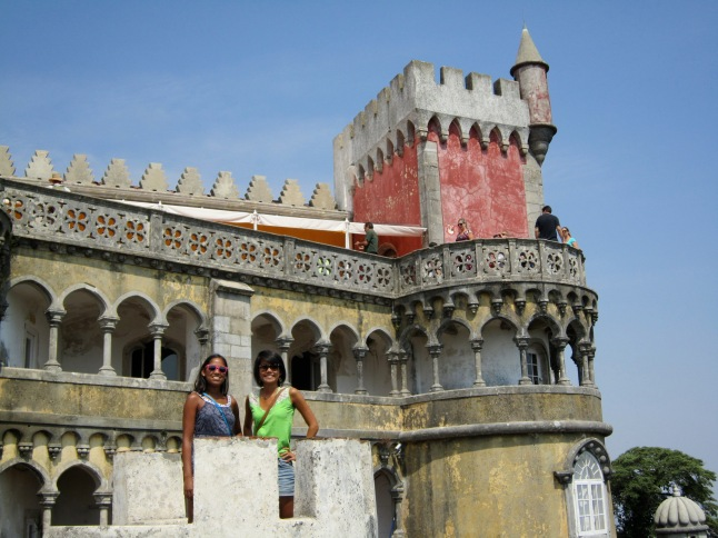 There were turrets that we could climb into for pictures