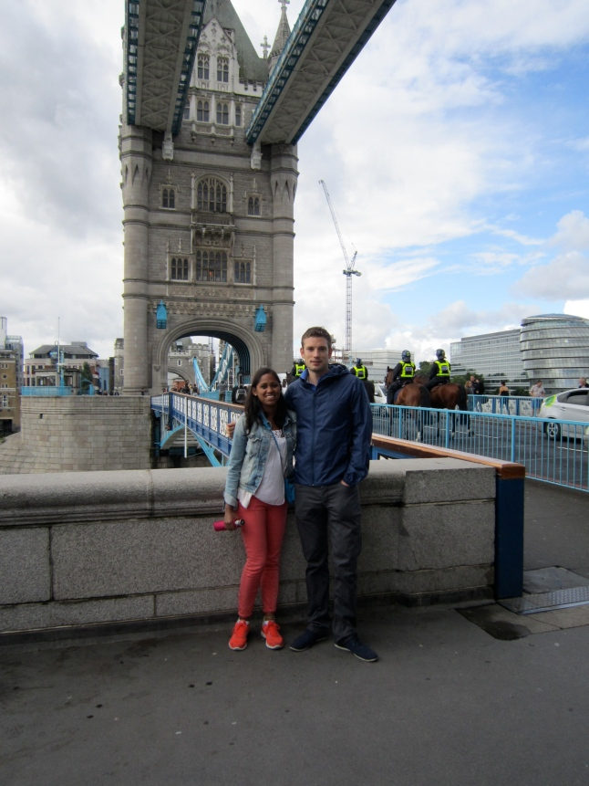 DP and I at Tower Bridge
