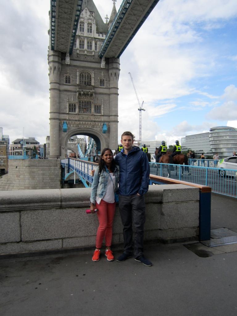 DP and I at Tower Bridge