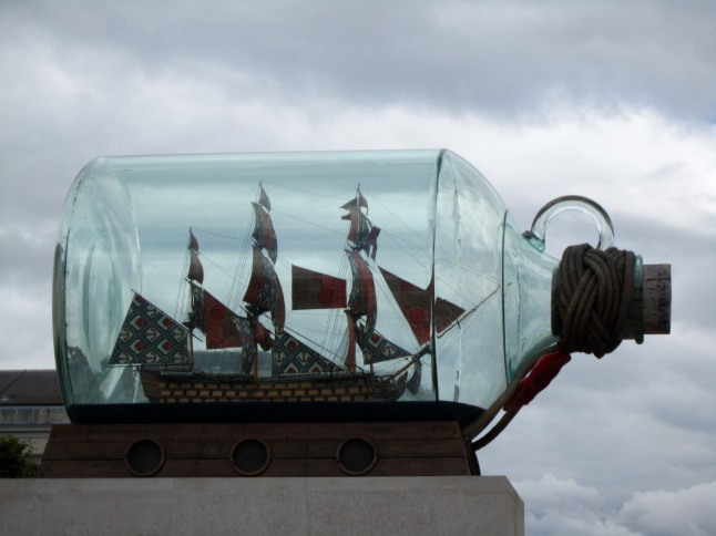 Big ship in a bottle