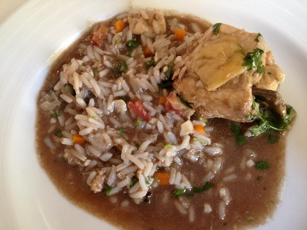 Chicken in Blood Rice